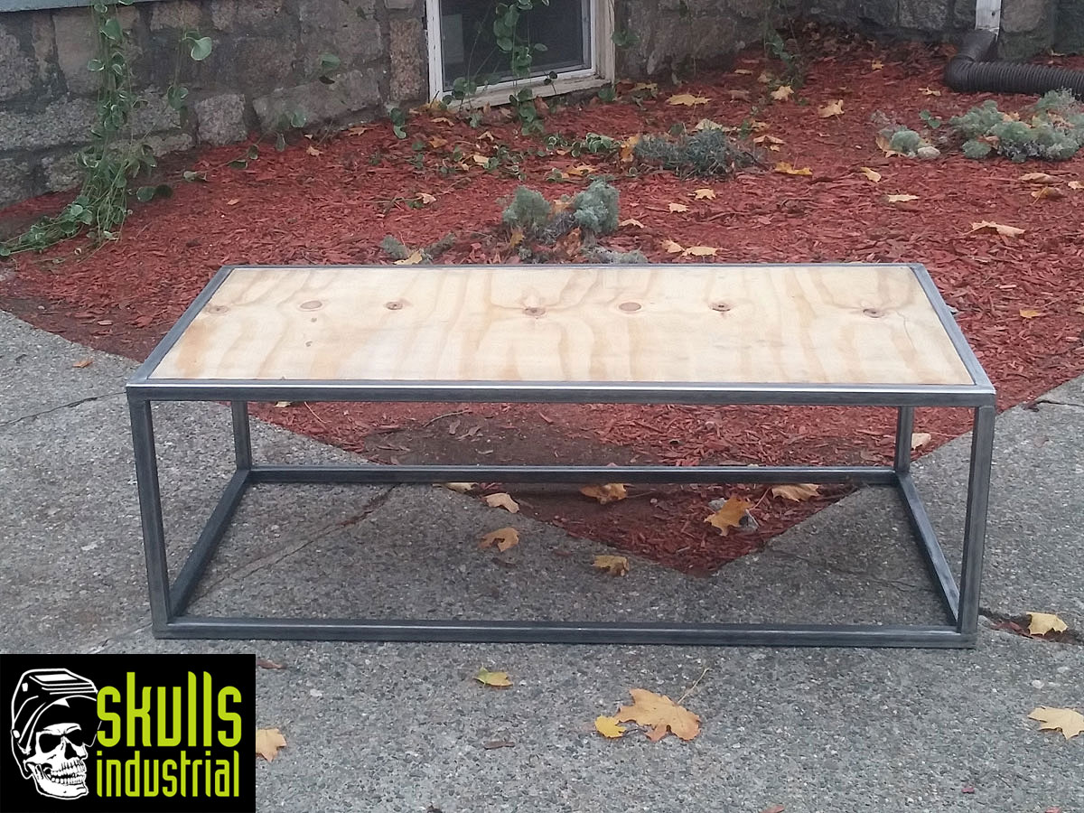 Coffee Table.Welded Steel And Reclaimed 3/4u2033 Plywood. Whatu0027s Your Setting?  Urban Loft, Rustic Industrial, Modern, Eclectic, For Your Garage?