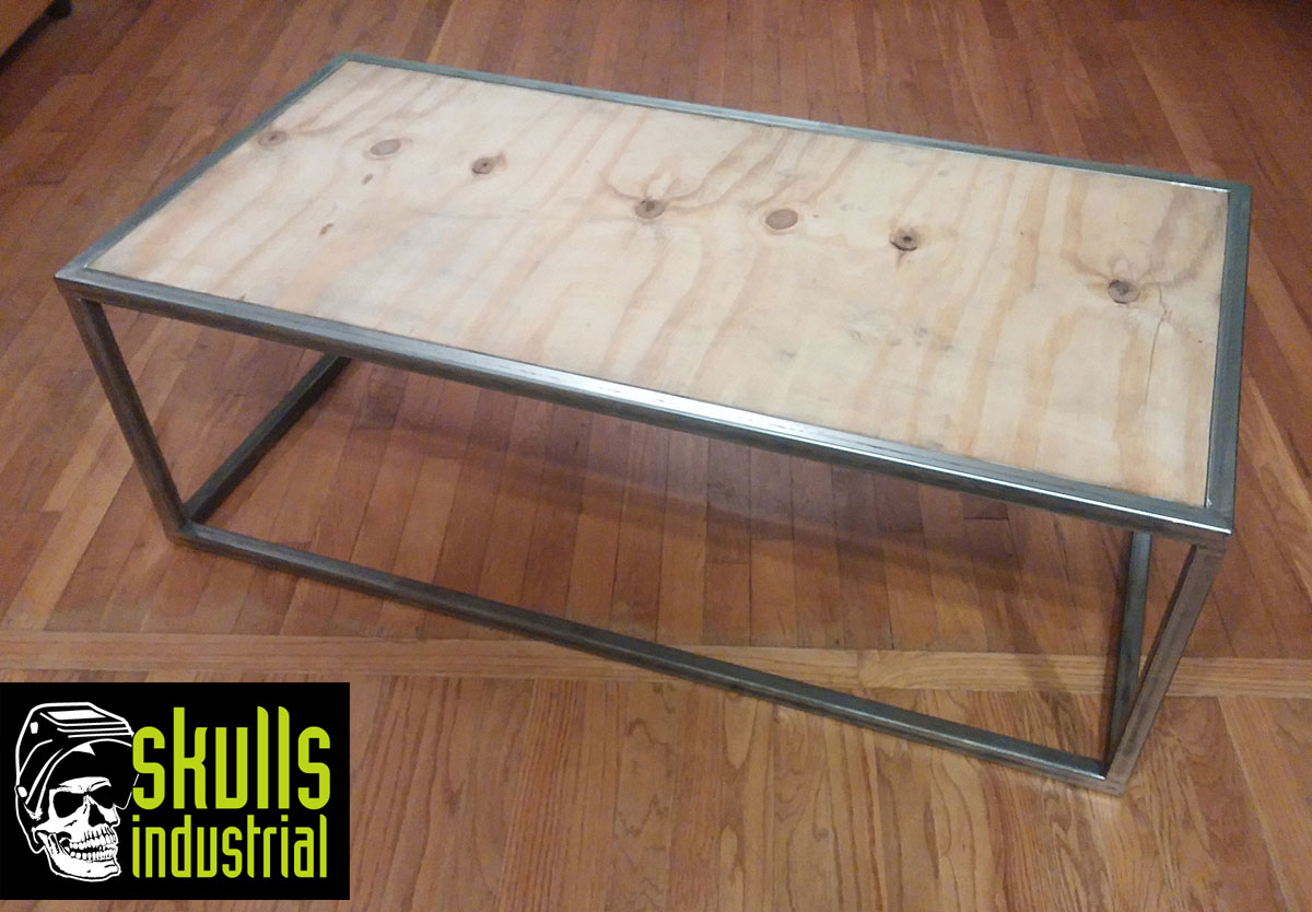 Steel And Plywood Coffee Table Skulls Industrial